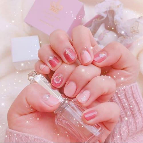 普通じゃイヤなの!こだわり乙女向け 【わたしの繊細ピンク】ネイル♡のサムネイル画像